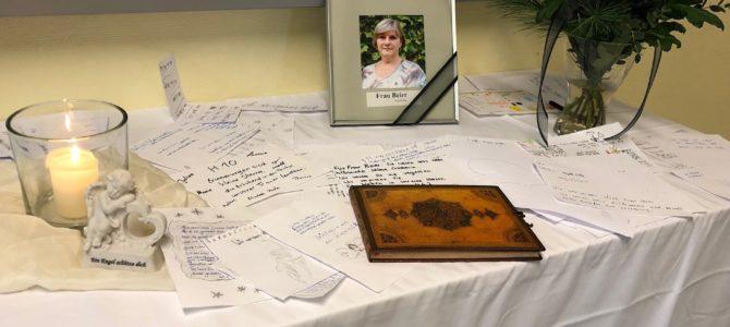 Die Wilhelm-von-Türk-Schule trauert um Martina Beier