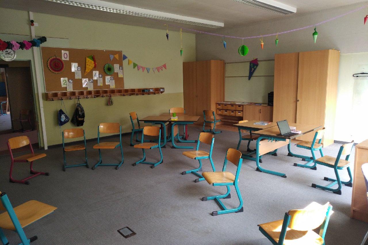 Die Klassenräume der 1. Klassen
